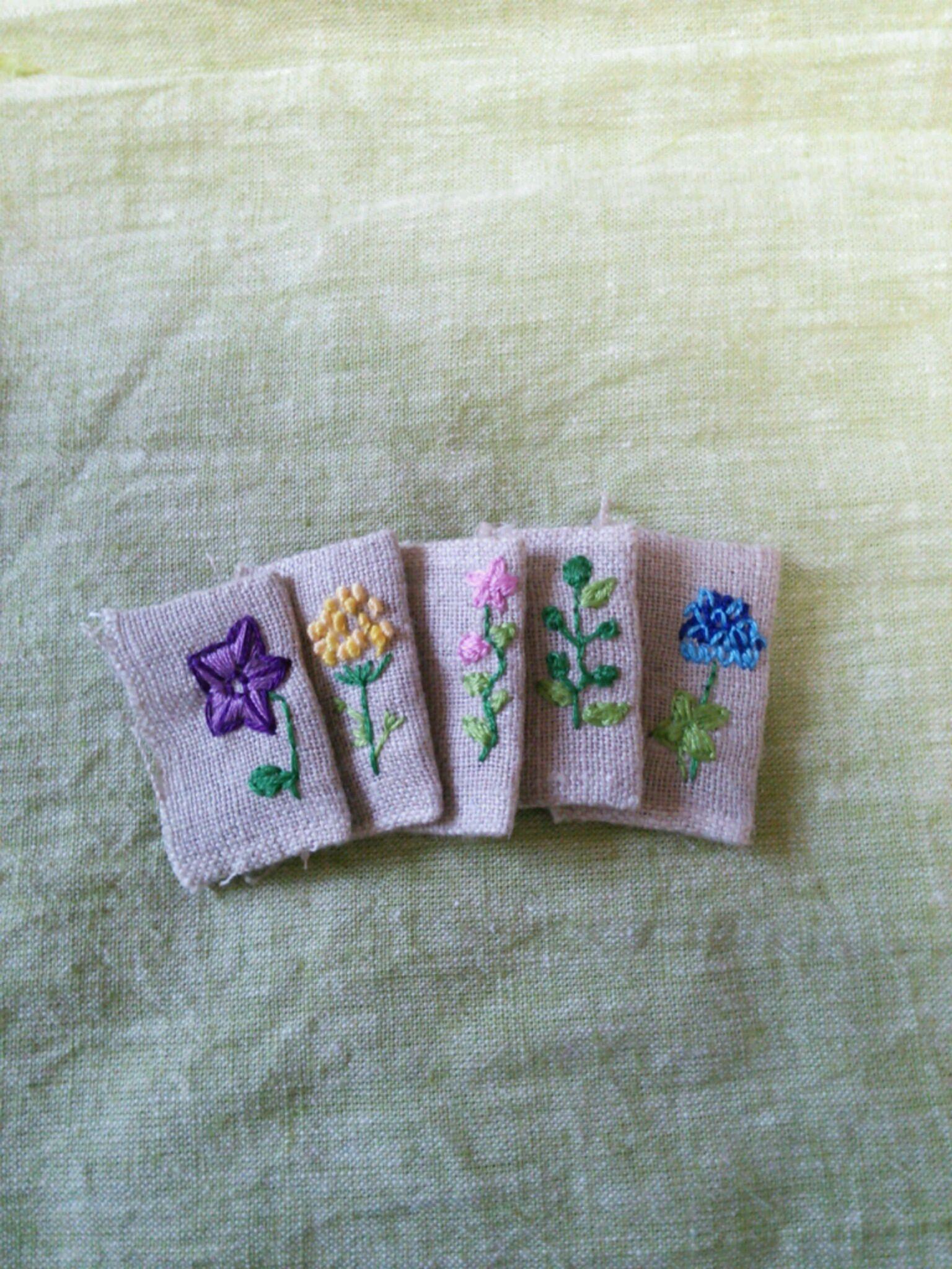 刺繍のタグ