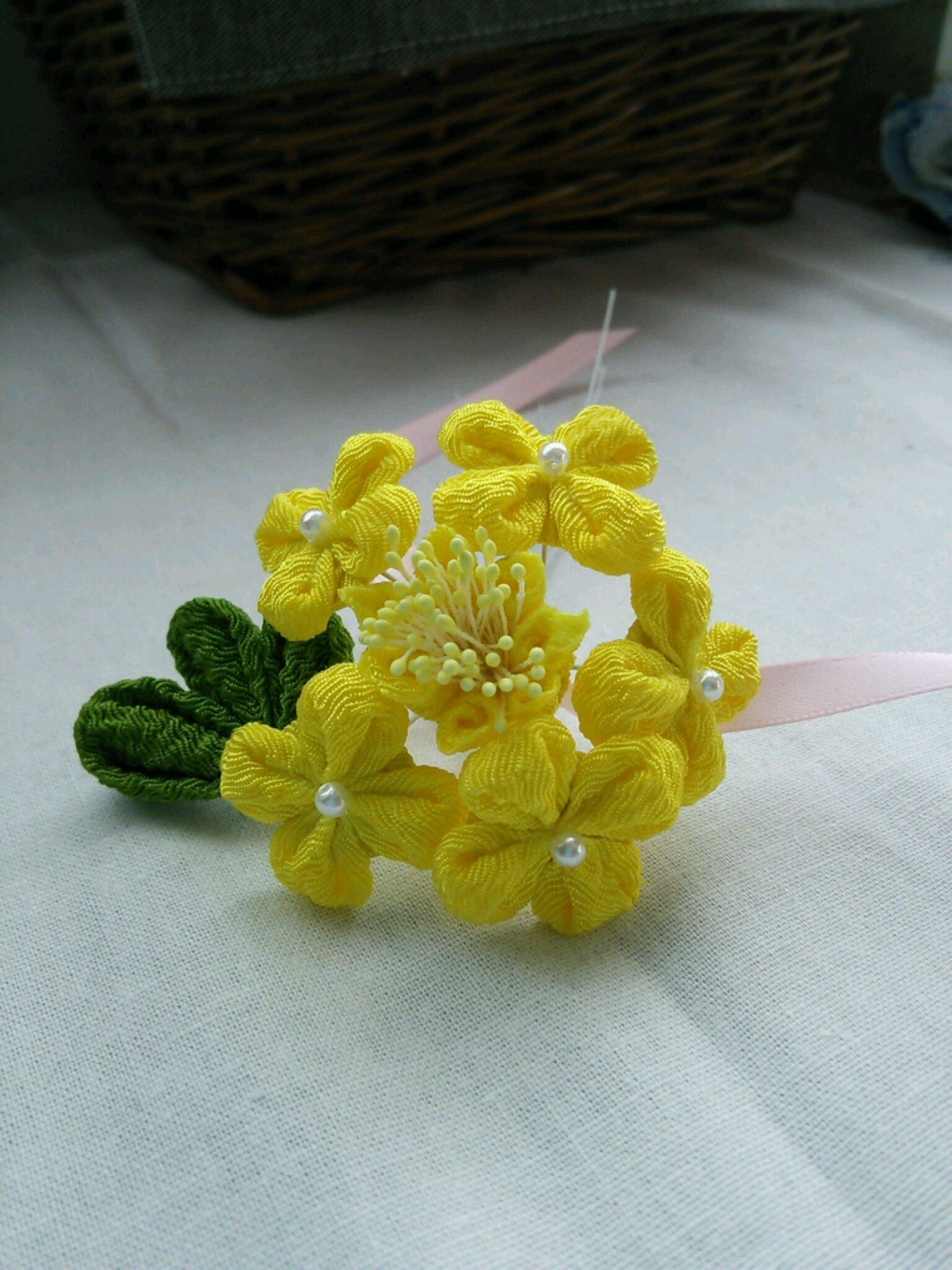『庭の花』と『つまみ細工の花』