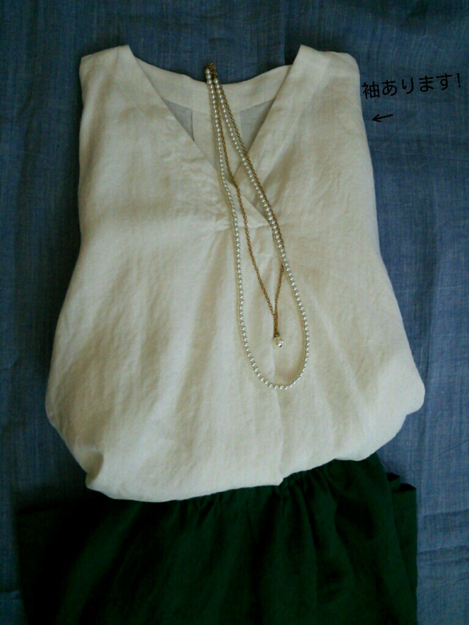 リネンの手縫いシャツ